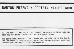 July 12 1893 Barton Friendly Society Minute Book.