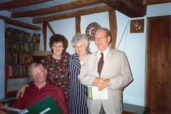 Summer 1994 11 Enstone Road. Seated: Geoffrey Stevenson. Standing: Sheila Rawlins on left and, right, Sheila's friend, ?.