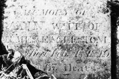 IN MEMORY OF ANN WIFE OF JAMES EAGLESTONE died Feby 4th 1849.