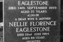 Tombstone in Westcote Barton Churchyard.
