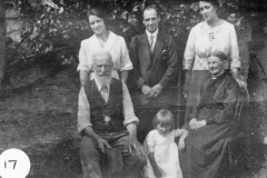 c. 1920 Seated: Caleb and Marianne Eaglestone. Front: Betty. Standing right: Miriam Dallinger.