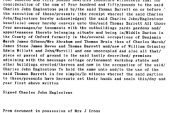 May 1 1903 Property (cottages and butcher's shop) transfer indenture (translation).