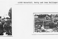 c. 1925 Waterfall on the mill stream. Betty and Jean Dallinger.