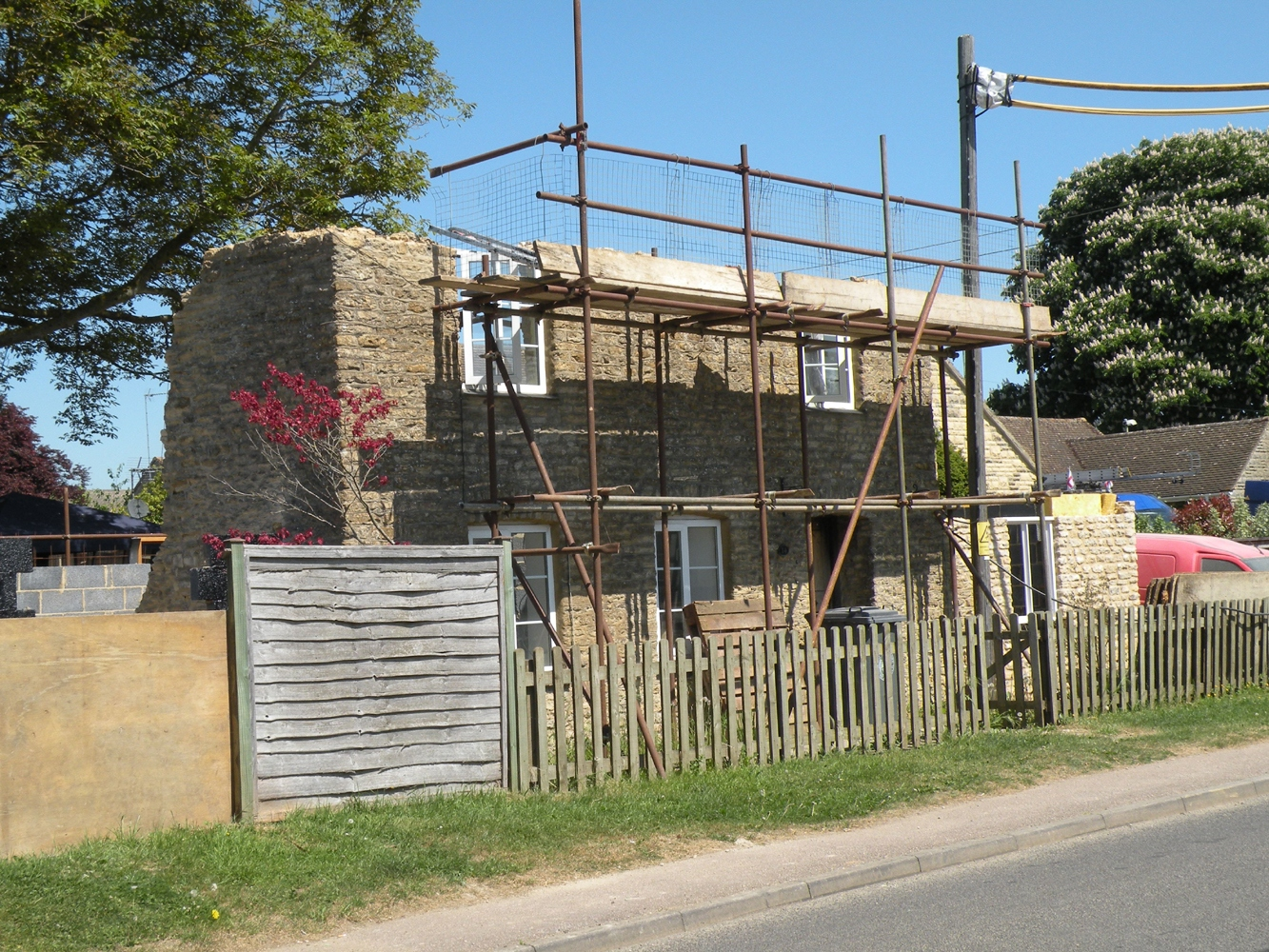 May 2010 House rebuild, 14 Enstone Road.