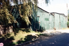 1986 The same site with sheds used by a haulage business, and at one time by 'Dabster' who used to sell stink bombs.