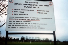 1999. Sports and Social Club sign.