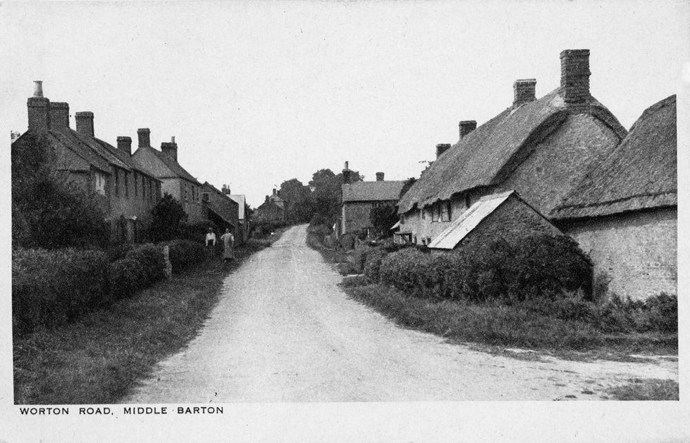 Original Kirby postcards - Worton Road looking north.