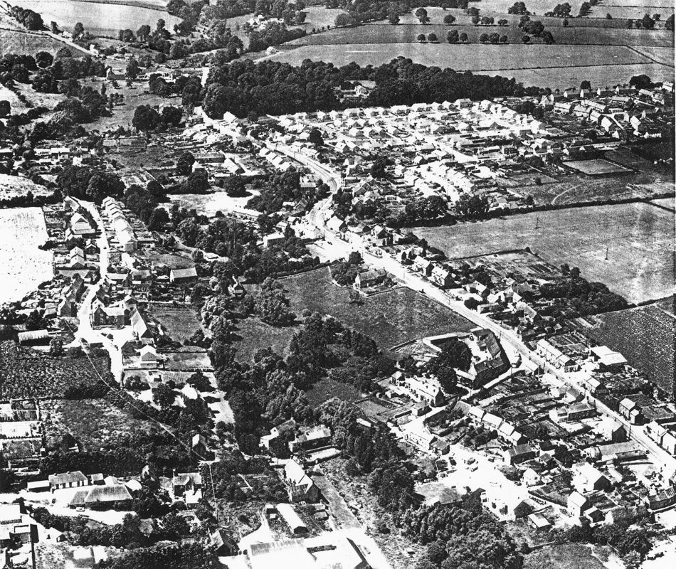 1988 Photocopy of an aerial photograph in ' The Making of the English Landscape' by Professor Hoskins, 1988 edition.