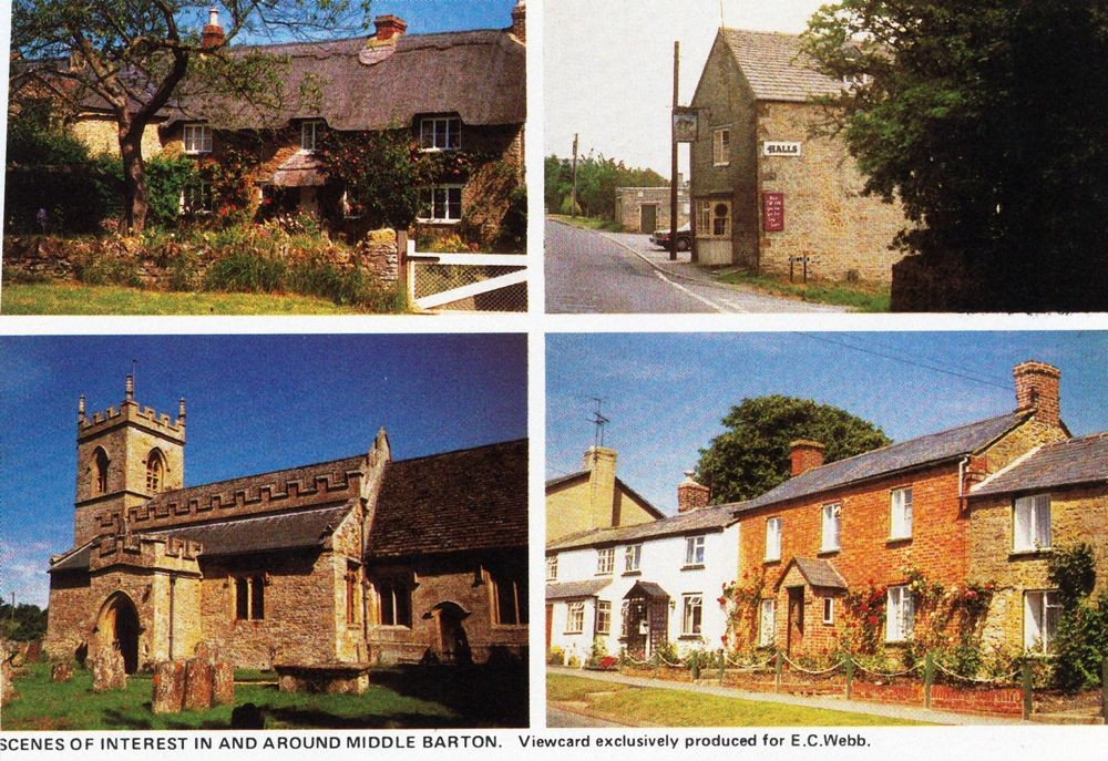 1988 Scenes of interest in and around Middle Barton. Viewcard produced exclusively for E. C. Webb.