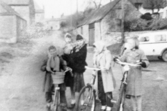 c. 1950s Unknown (?) Jill Dale third from the left. Mill Lane.
