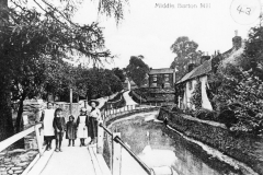 1910 Mill Lane ford. Miriam Gibson, Joe Stockford, Dolly Simson, ANO, Gertrude Simson, ANO.