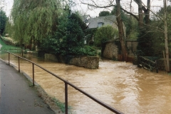 9 April 1998 Mill Lane ford flood. Panorama.