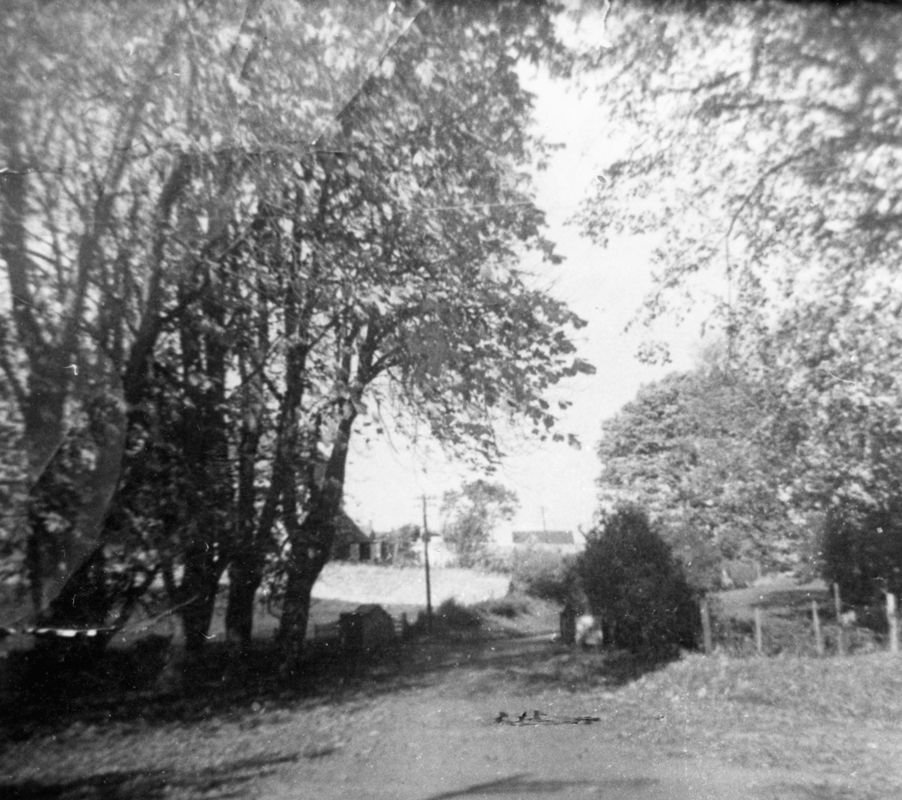 1950s/1960s Junction of South Street and Fox Lane. Looking north up Pound Lane.