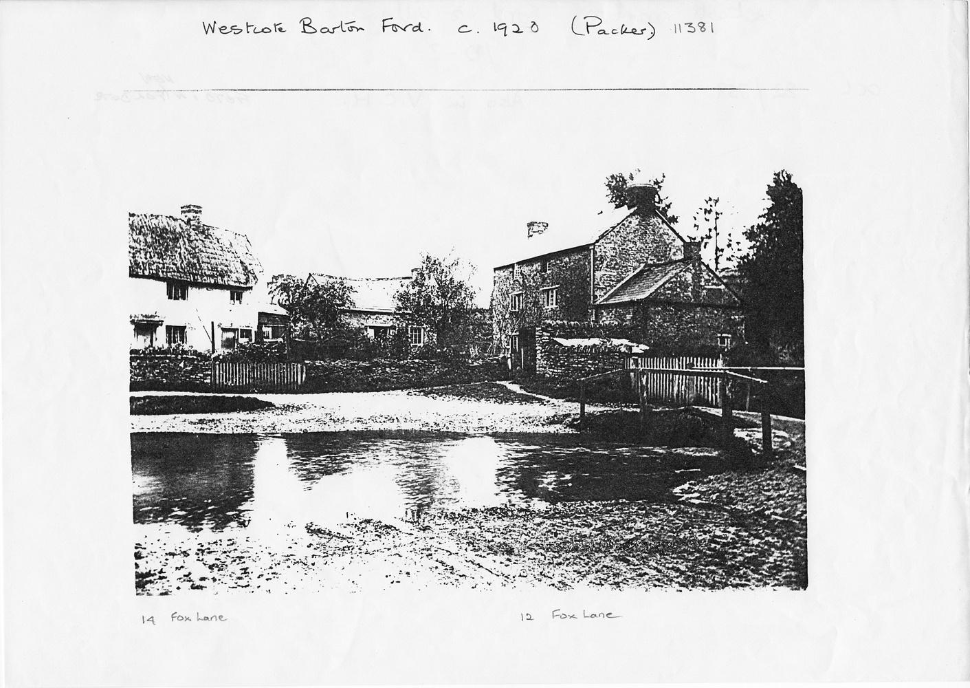c. 1920 Westcote Barton Ford photocopy.