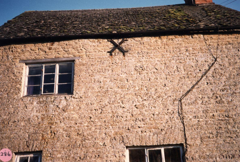 1987 17 Fox Lane Datestone just visible under cross - 1754.