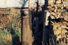 December 1986 Kiddington Road water standpipe, stolen October 1998.