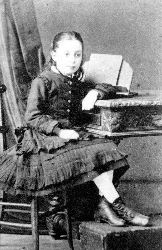 c. 1880 Marianne, daughter of Martha (nee Luing) and Josiah Kirby. Marianne married Felix John (aka Phil) Kirby.