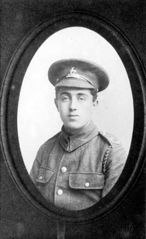 c. 1914 George Felix Kirby. Born June 1896, joined the 14th Royal Warwickshire Regiment 'B' Company.