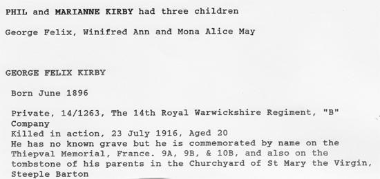 Biography of George Felix Kirby.