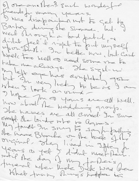 Letter (2 page 2) addressed to Mrs Audrey Martin from Mrs Mona Owen with Kirby family reminiscences.