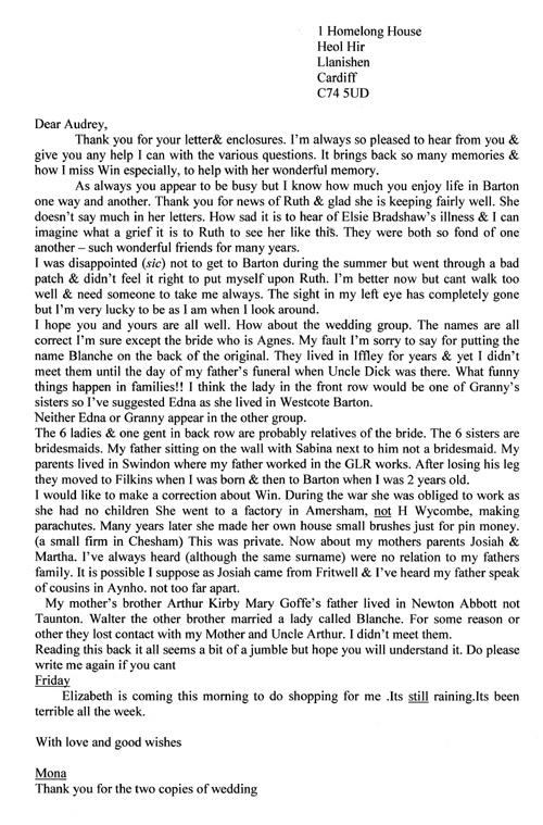 Letter 2 transcribed.