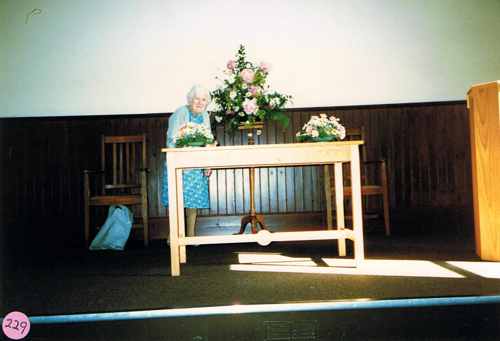 c. 1987. Ruth Kirby, Methodist Chapel.