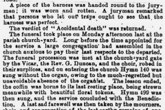 29 May 1896 Oxford Times - continued report of the accidental death of Jeremiah George Kirby.