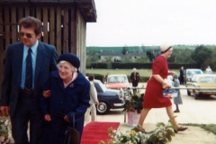 8 May 1981 Ruth Kirby receives the British Empire Medal at the Sports and Social Club.