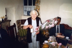 May 1982 Presentation of a carriage clock to Miss Rith Kirby by the Steeple Barton Parish Council. The presentation was made at Holliers Farm.