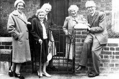 c. 1940 Mrs Doris Groves, Mrs Ivy (sisters nee Watson), unknown, Miss Ruth Kirby, Mr. Clift.
