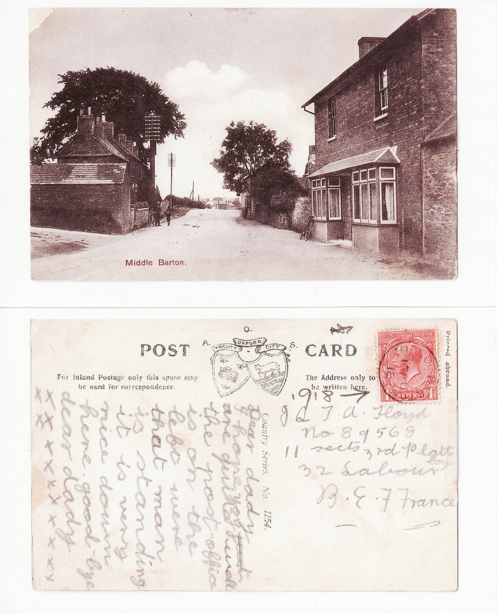 16th August 1918 postcard of North Street looking east. Postcard addressed to Floyd, British Expeditionary Force, France. Daughter to father.