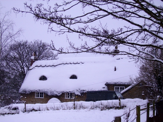 January 2010: Snow Horseshoe Cottage.