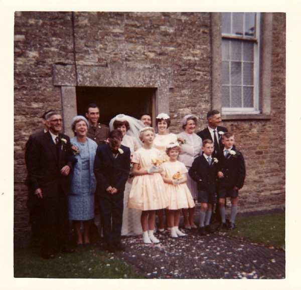 1960s. Wedding of Alan Coles and Delia Wyatt at the Methodist Chapel.