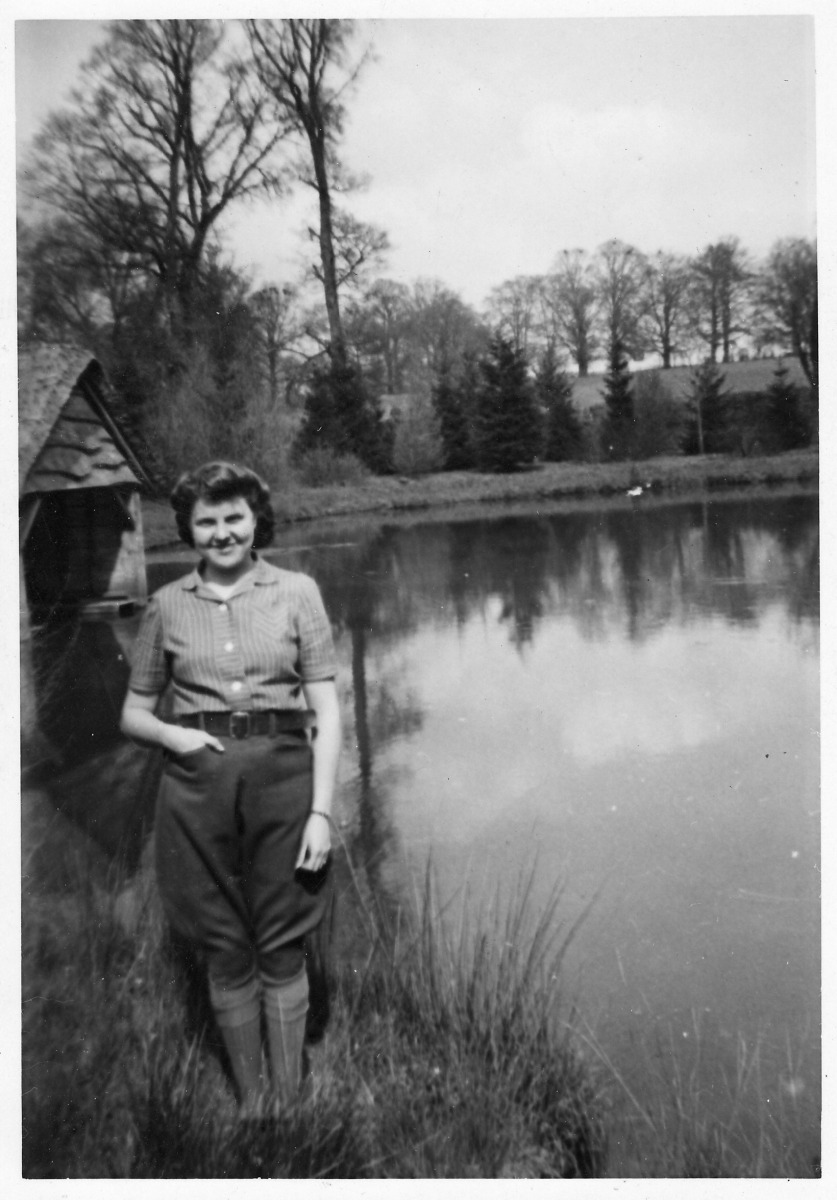 1942. Boat house and Lake not forgetting Olive.