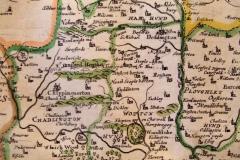 1673 Richard Blome Encyclopedia Britan(n)ia - North Oxfordshire.
