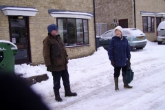 January 2010: Snow Mrs. Kent and Mr. Edbury.