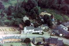 1971. 18, 19, 20 North Street aerial photograph.  Cox's shop, gardens in Washington Terrace and foundations for the new town houses.
