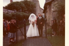 1960s. Wedding of Delia Wyatt and Alan Coles at the Methodist Chapel.
