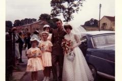 1960s. Wedding of Alan Coles and Delia Wyatt at the Methodist Chapel.