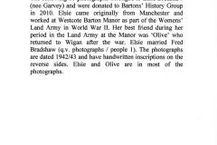 1942/43. Womens Land Army at Westcote Barton Manor WW II.