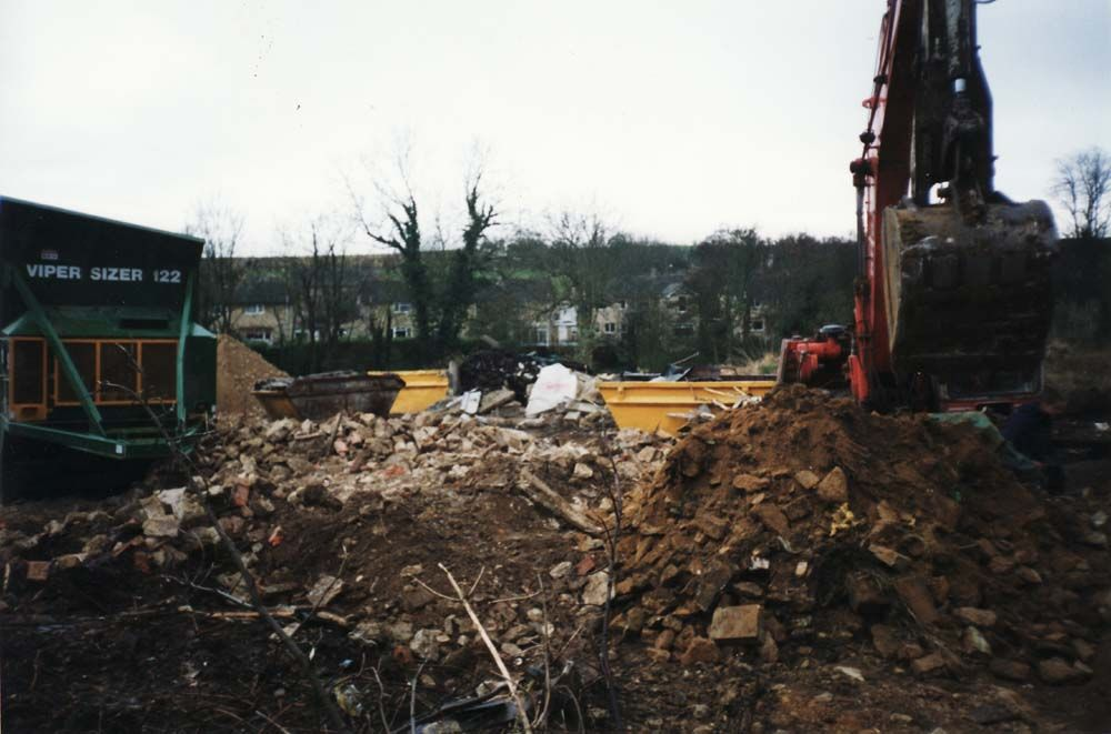 Prior's lorry yard before building the new houses.