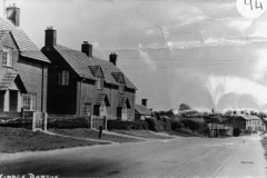 c. 1940 31/33/35 North Street looking east. These houses were built in 1928. Note the standpipe installed in 1938.
