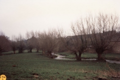 January 1993 The brook from the Dock.