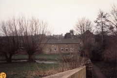 January 1993 The back of the Dock cottages.