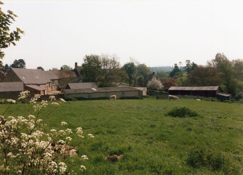 Rear of Holliers Farm from North Street. Date stone for the farm of 1714.