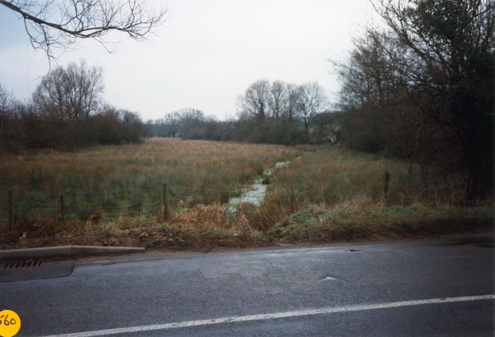 North Street. Looking north Cockly brook, part of SSSI (Site of Special Scientific Interest).