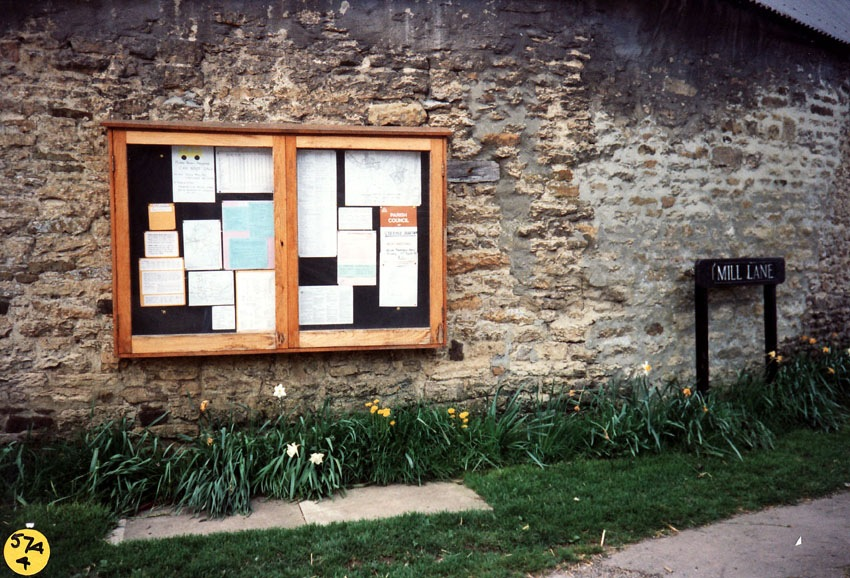 1993 North Street - Steeple Barton Parish Council notice board.