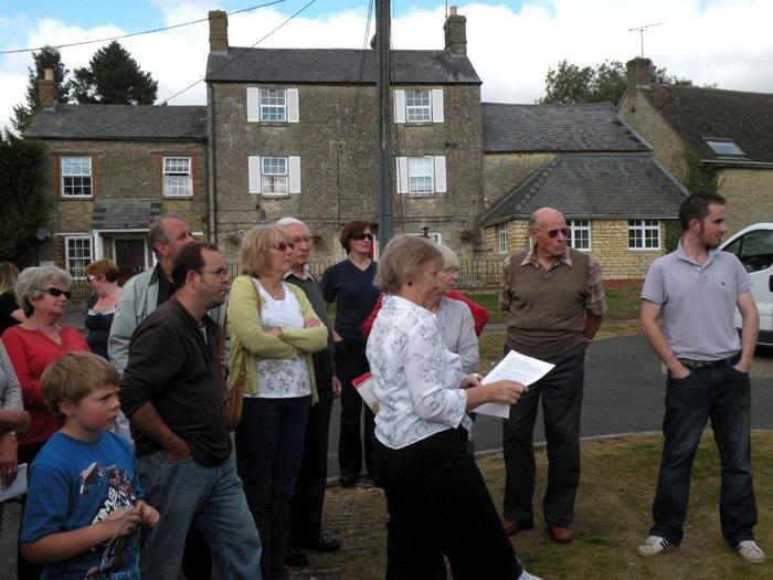 27 September 2009 Chris Edbury leading a North Street History Walk.