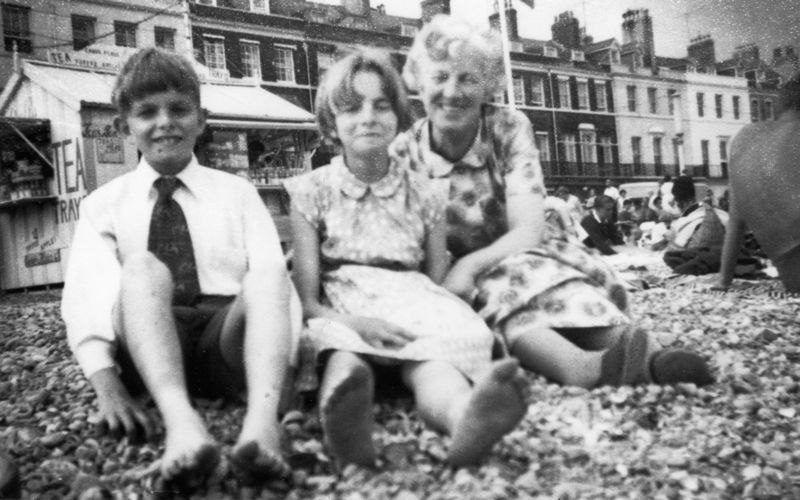 c. 1950s/60s Graham and Cynthia Bradshaw with Miss Ruth Kirby, probably on a Sunday school outing. Graham and Cynthia were the children of Elsie Bradshaw (nee Garvey) and Fred Bradshaw, who kept the saddlers and shoe shop with model railway in North Street.