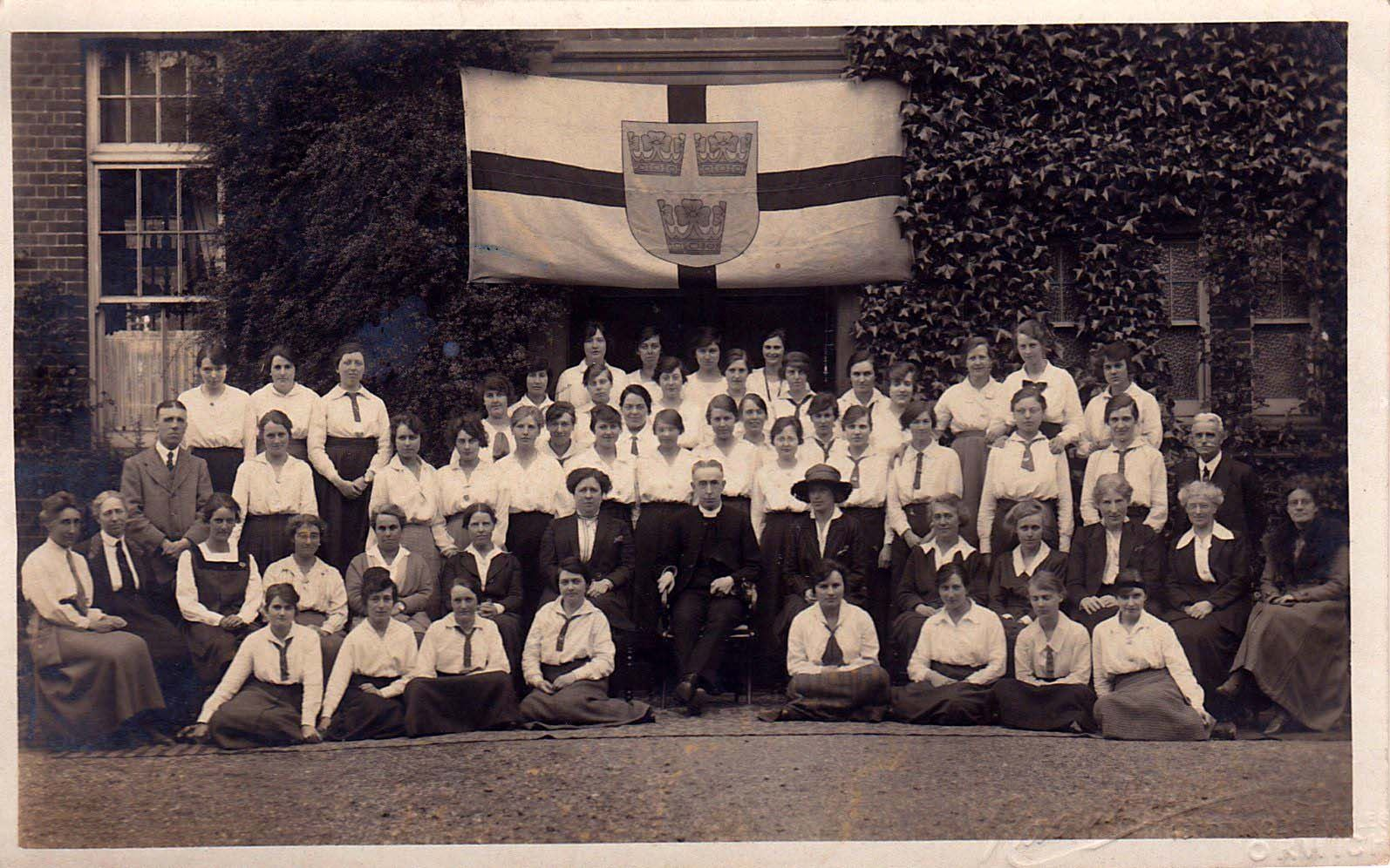 1919-1921 Norwich Training College for elementary teachers. Florence Farley middle row, 3rd girl from right (?).